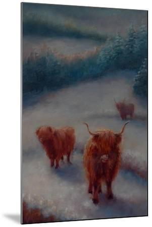 Highland Cattle-Lee Campbell-Mounted Giclee Print