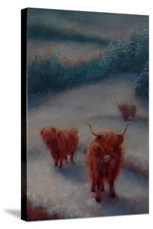 Highland Cattle-Lee Campbell-Stretched Canvas Print