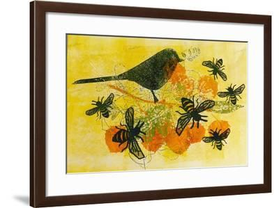 Birds and bees-Sarah Thompson-Engels-Framed Giclee Print