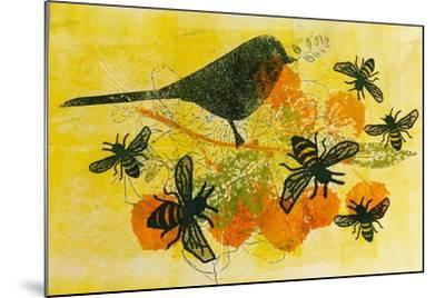 Birds and bees-Sarah Thompson-Engels-Mounted Giclee Print