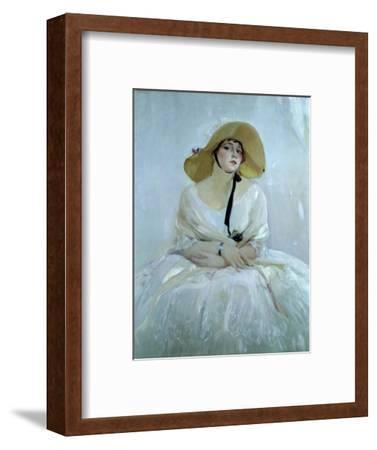 Raquel Meller, Tarazona, 1888 - 1962. Oil on canvas-Sorolla Joaquin-Framed Giclee Print