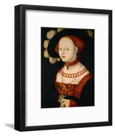 Portrait of a lady. Wood, 1530 68 x 52 cmCecilia Gallerani (lady with the ermine) portrait c.1490-Leonardo da Vinci-Framed Giclee Print
