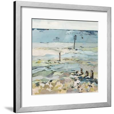 Southwold Sea View from Chris and Judy's Beach Hut-Christine McKechnie-Framed Giclee Print