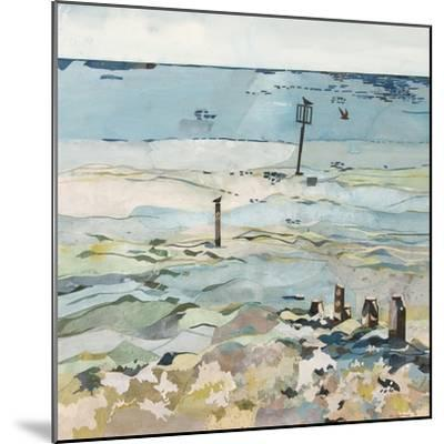 Southwold Sea View from Chris and Judy's Beach Hut-Christine McKechnie-Mounted Giclee Print