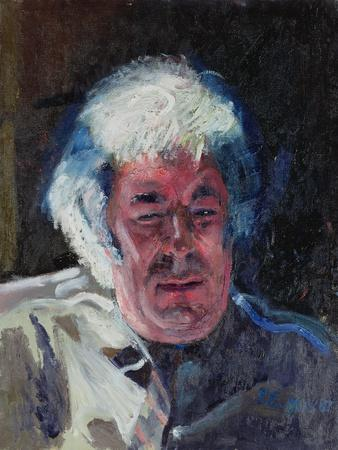 Portrait of Seamus Heaney, 1987-Peter Edwards-Framed Giclee Print