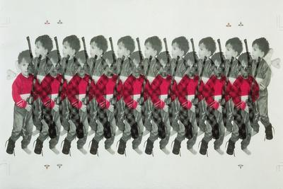 Boy Soldiers, 1996-Laila Shawa-Stretched Canvas Print