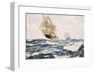 The Clipper 'Fychow' in company--Framed Giclee Print