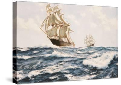 The Clipper 'Fychow' in company--Stretched Canvas Print