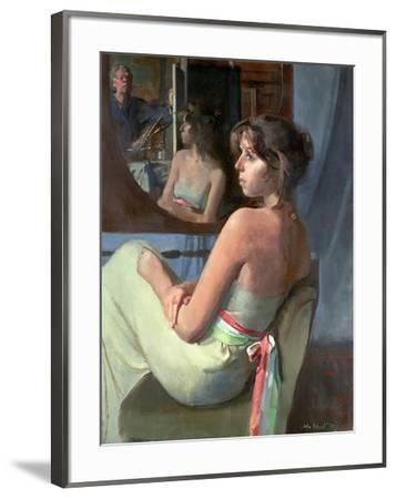 Stephanie in Profile, 1979-John Stanton Ward-Framed Giclee Print