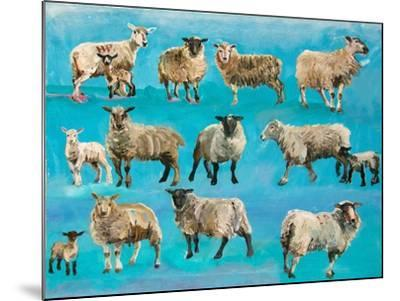Counting Sheep-Alex Williams-Mounted Giclee Print
