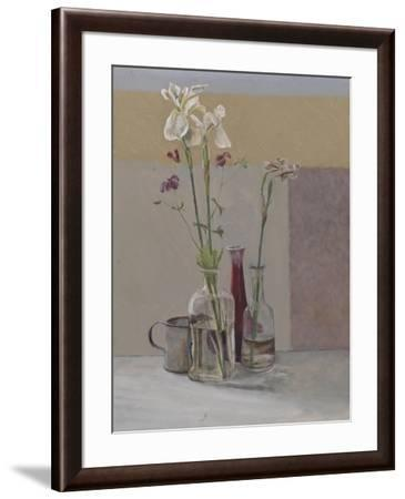 Tall White Irises, 2009-William Packer-Framed Giclee Print