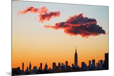Manhattan Skyline, 2012--Mounted Photographic Print
