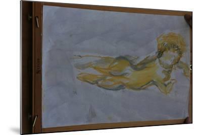 Flying angel-Cosima Duggal-Mounted Giclee Print
