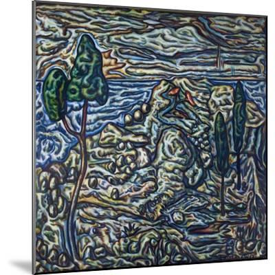 Troubled Landscape, 1994--Mounted Giclee Print