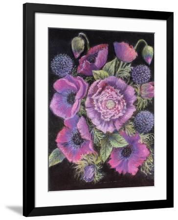 Anemones and thistles, 1998--Framed Giclee Print