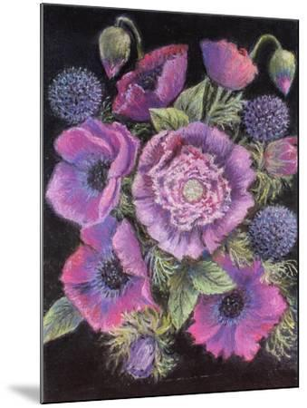 Anemones and thistles, 1998--Mounted Giclee Print