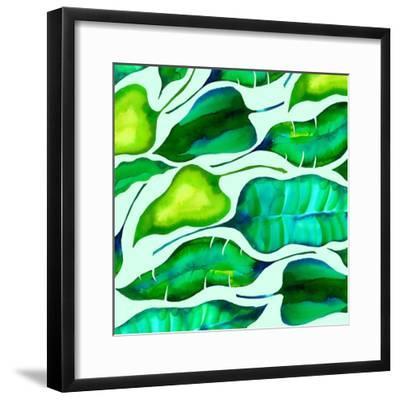Tropical leaves, 2018-Andrew Watson-Framed Giclee Print