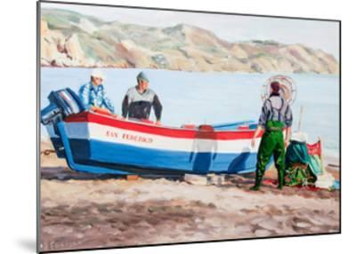 Fishermen at Nerja, Spain-Anthony Fandino-Mounted Giclee Print