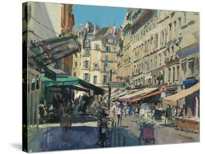 Rue de Buci, Lunchtime, 2014-Peter Brown-Stretched Canvas Print