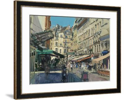 Rue de Buci, Lunchtime, 2014-Peter Brown-Framed Giclee Print
