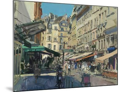 Rue de Buci, Lunchtime, 2014-Peter Brown-Mounted Giclee Print
