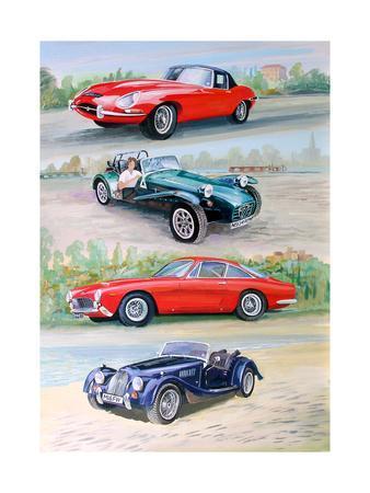Sports Cars 1960s, 2006-Alex Williams-Framed Giclee Print