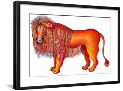 Leo the Lion, 1996-Jane Tattersfield-Framed Giclee Print