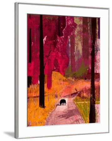 Black Dog, 2013-David McConochie-Framed Giclee Print