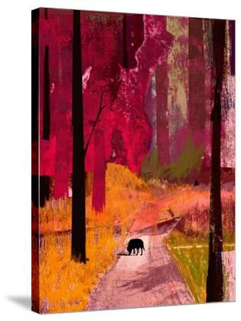 Black Dog, 2013-David McConochie-Stretched Canvas Print