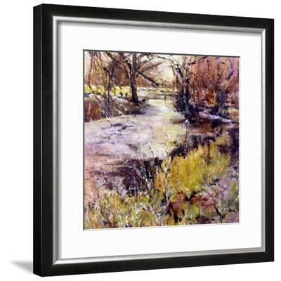 Fishing in Wolfscote dale-Mary Smith-Framed Giclee Print