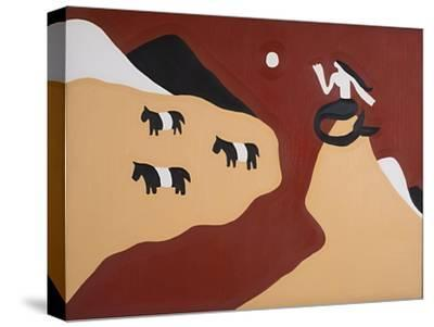To this Land We Belong, Said the Mermaid and the Belted Galloways,1995,-Cristina Rodriguez-Stretched Canvas Print