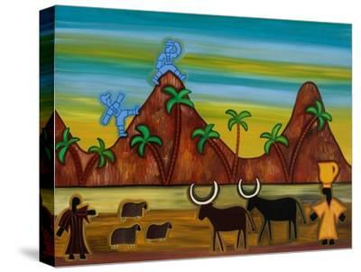 At last, the first signs of civilization,2003,-Cristina Rodriguez-Stretched Canvas Print