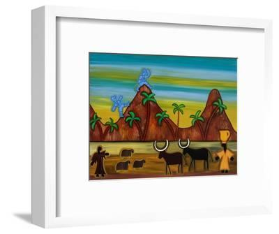 At last, the first signs of civilization,2003,-Cristina Rodriguez-Framed Giclee Print