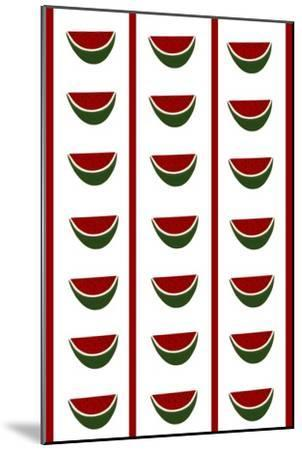 Design -CR- Watermelons in White-Cristina Rodriguez-Mounted Giclee Print