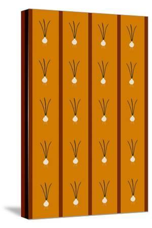 Design -CR-Onions in Ochre Brown-Cristina Rodriguez-Stretched Canvas Print