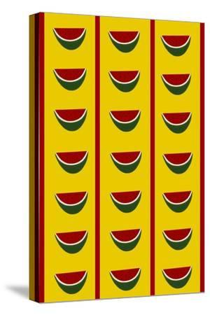 Design-CR-Watermelons in Yellow-Cristina Rodriguez-Stretched Canvas Print