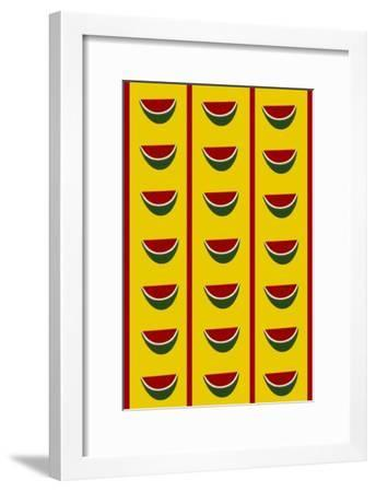 Design-CR-Watermelons in Yellow-Cristina Rodriguez-Framed Giclee Print