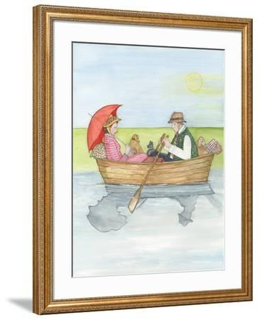 On the River, 2018-Gillian Lawson-Framed Giclee Print