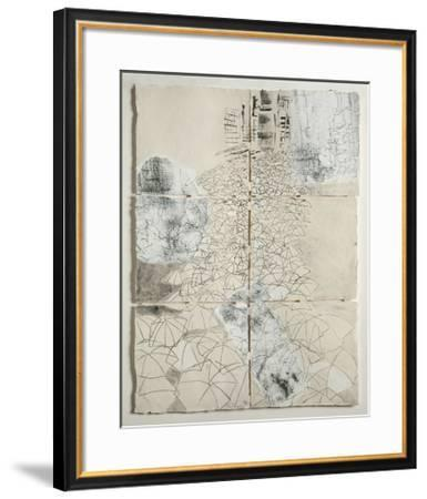 Tokyo Crowd Panel Drawing I-Hermione Carline-Framed Giclee Print