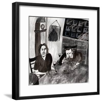 eating--Framed Giclee Print