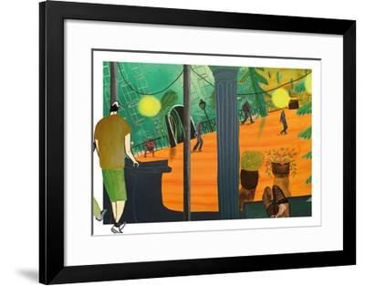 bright city--Framed Giclee Print