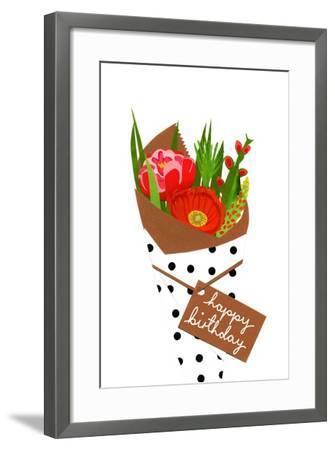 Birthday bouquet, 2014-Isobel Barber-Framed Giclee Print