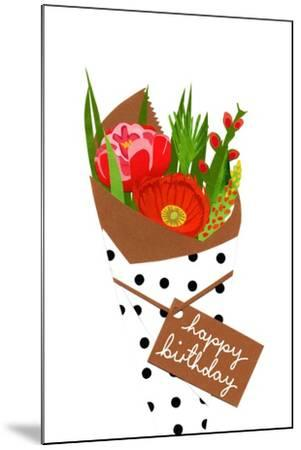 Birthday bouquet, 2014-Isobel Barber-Mounted Giclee Print