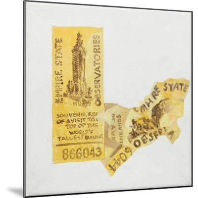 Old ticket of Empire State Builidng, 1 ticked torn up-Jennifer Abbott-Mounted Giclee Print