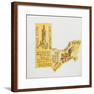 Old ticket of Empire State Builidng, 1 ticked torn up-Jennifer Abbott-Framed Giclee Print