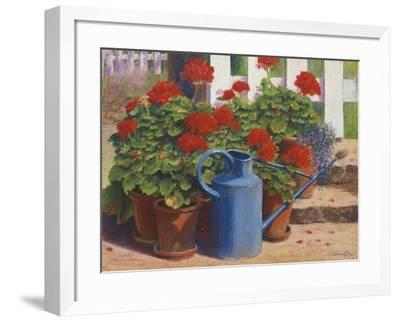 Blue Watering Can-Anthony Rule-Framed Giclee Print