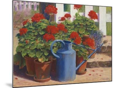 Blue Watering Can-Anthony Rule-Mounted Giclee Print