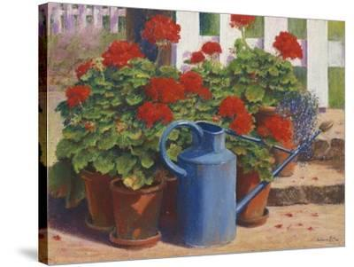 Blue Watering Can-Anthony Rule-Stretched Canvas Print