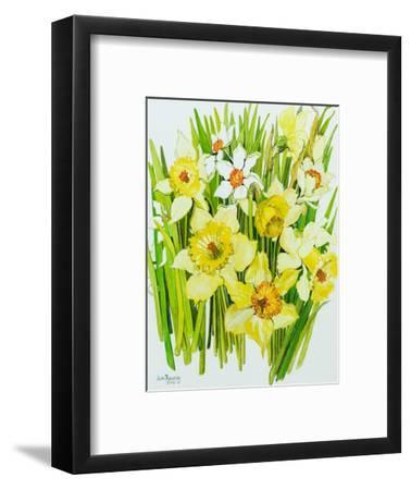 Daffodils and narcissus-Joan Thewsey-Framed Giclee Print