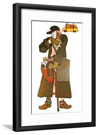 The Lady and the Van-Carol Walklin-Framed Giclee Print